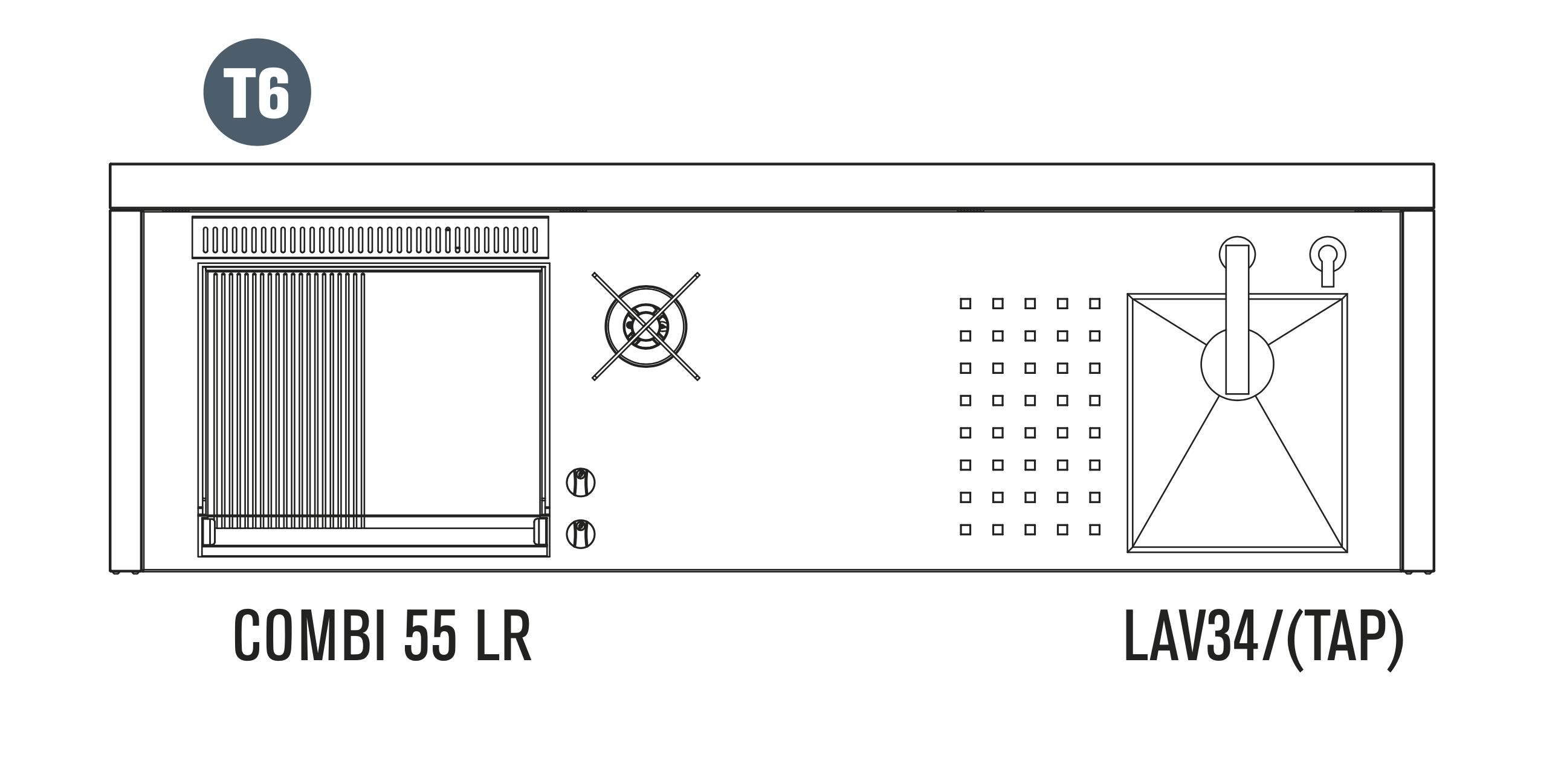 OASI Serie Outdoorküche 205-C5 T6 (IN 55 Combi LR)