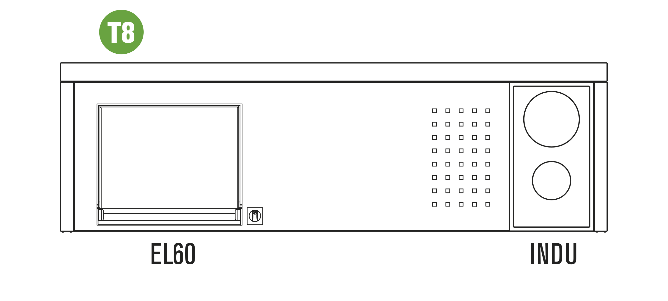OASI Serie Outdoorküche 205-C5 T8 (EL60 XL + INDU)