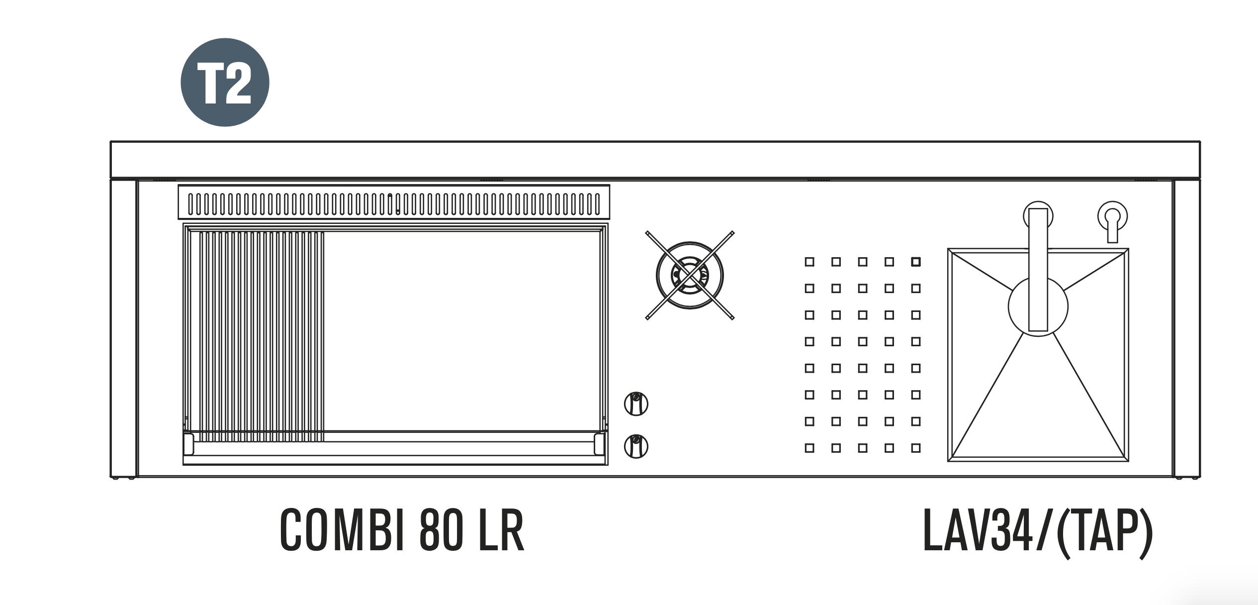 OASI Serie Outdoorküche 205-C5 T2 (IN 80 Combi LR)