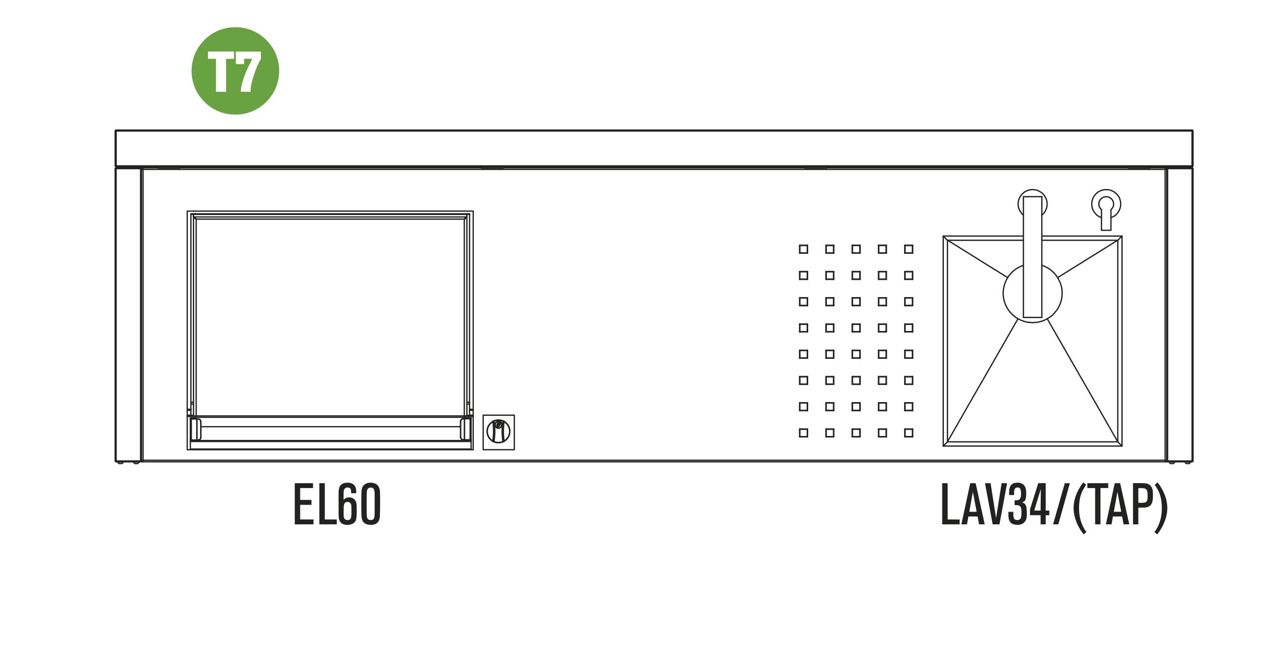 OASI Serie Outdoorküche 205 - C5 T7 (IN EL60 VL)