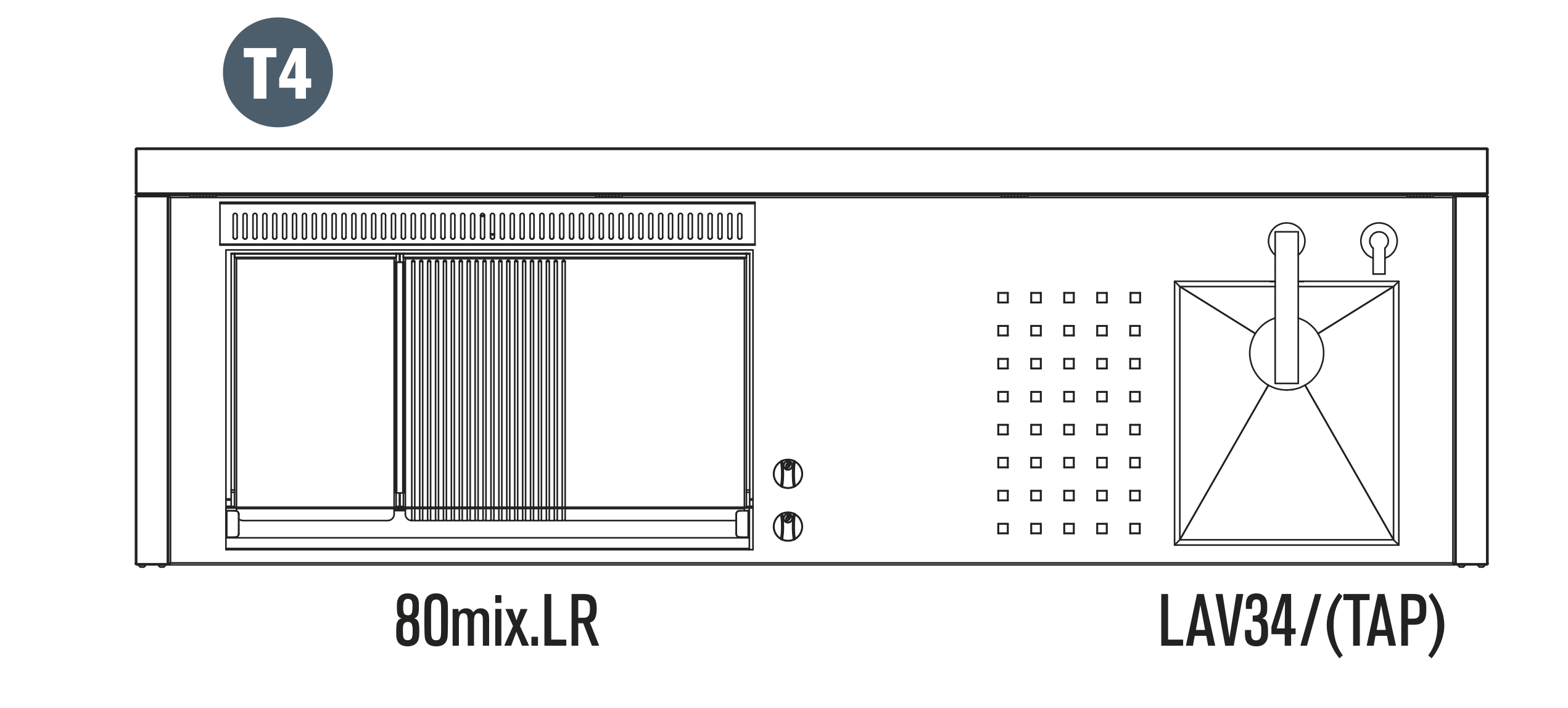 OASI Serie Outdoorküche 205 - C5 T4 (IN 80 MIX LR)